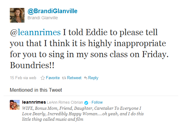 Boundaries for Leann Rimes