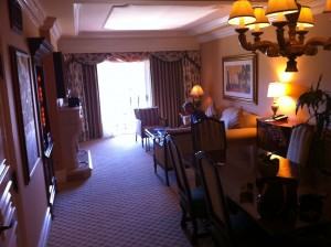Living Room at the Grand Del Mar in San Digeo California Suite