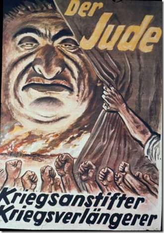 derjude the jew incitor of war poster