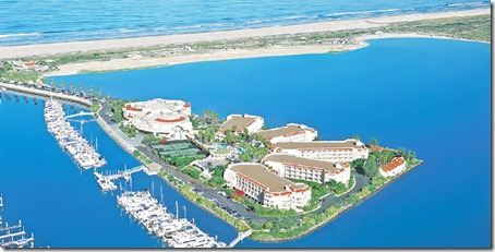 lowes coronado bay resort aerial shot
