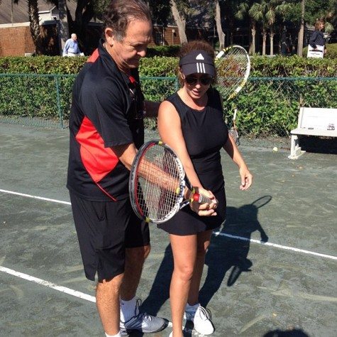 Cliff Drysdale helped me with my groundstrokes