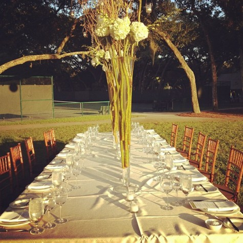 The table looked magical as the sun set