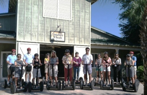 It took me a while to get the hang of the Segway everyone else was much better