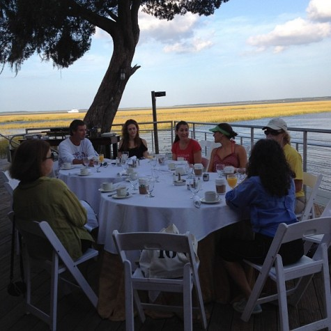 We also had a breakfast over the marsh, which is beautiful