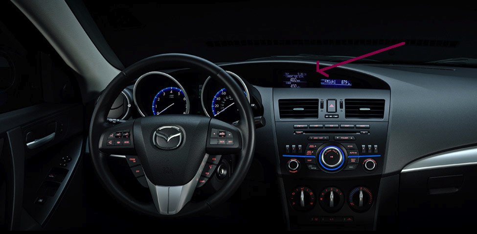 This is the Mazda 3 navigation system