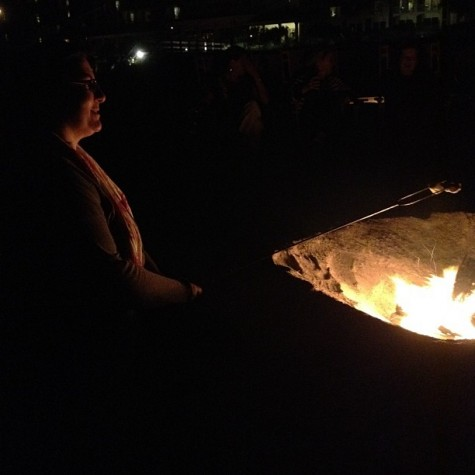 What's a beach vacation without a firepit and s'mores?