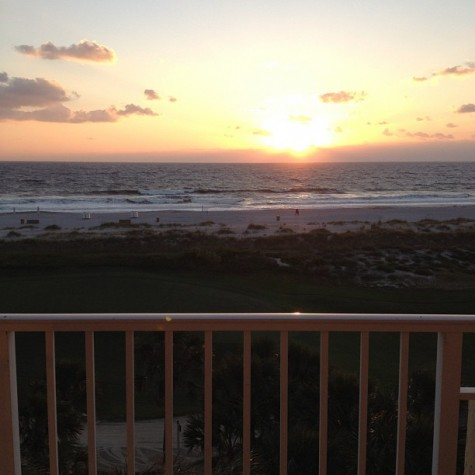 As a California girl it's strange and beautiful to see the sun rise over the ocean