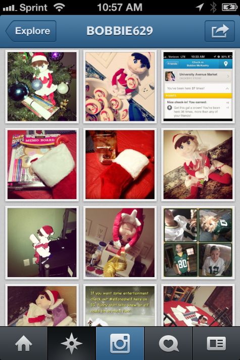 elf of the shelf on instagram