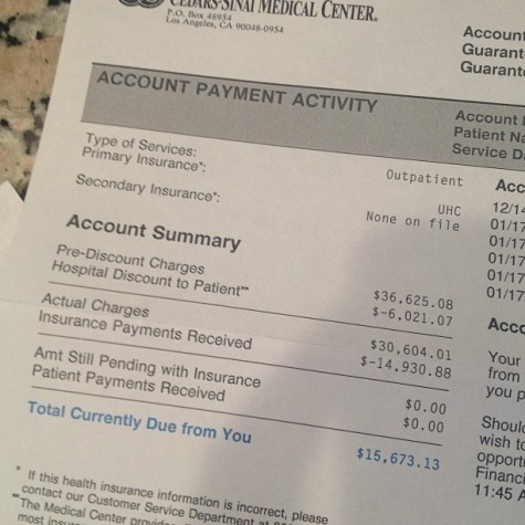 $15,000 medical bill