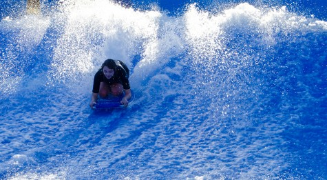 First time boogie board on Flowrider