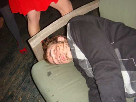 passed out at a party
