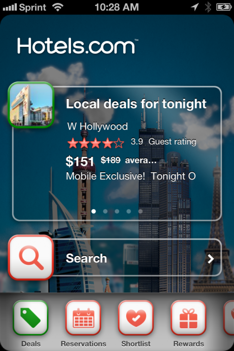 Hotels.com iphone app