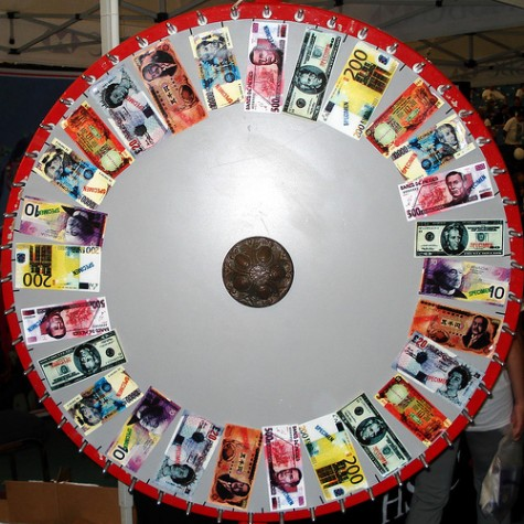 spinning wheel money