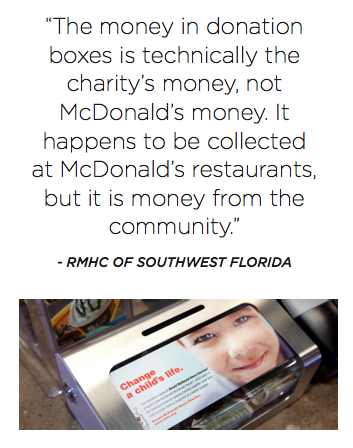 RMHC says they don't get money