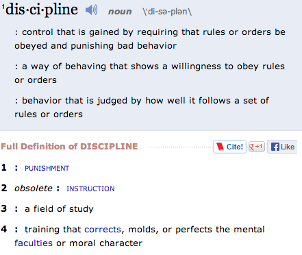 definition of discipline
