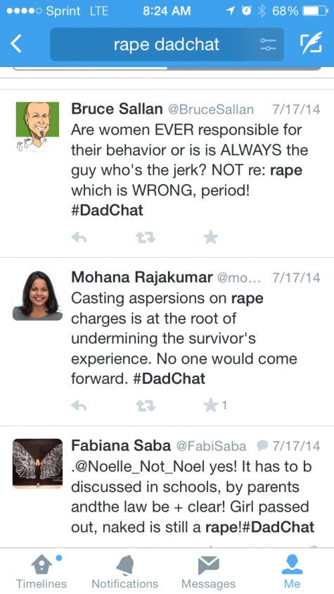 DadChat Rape women responsible