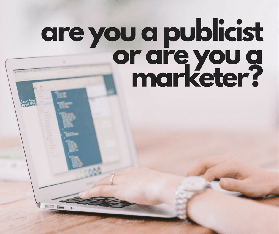 Are you a publicist or are you a marketer? The requests made of social media influencers really need to be clear.