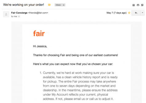 fair app confirmation email
