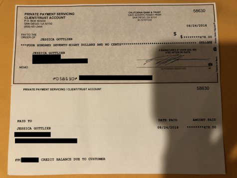 A refund check from Fair.c