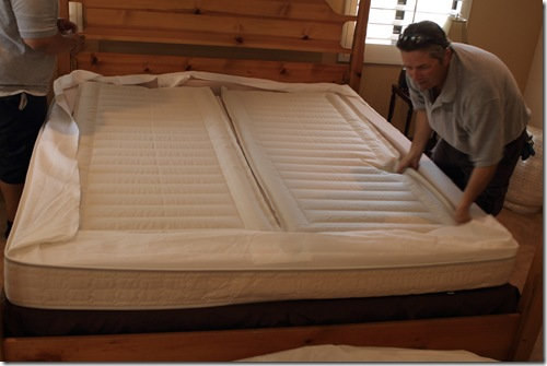 inserting the blow up parts on the sleep number i8