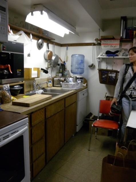 backstage kitchen