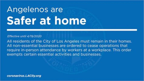Angelinos are Safer at Home  Effective until 4/19/2020  All residents of the City of Los Angeles must remain in their homes. All non-essential businesses are ordered to cease operations that require in-person attendance by workers at a workplace. This order exempts certain essential activities and businesses.